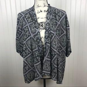 Forever 21 Kimono Gray Open Blazer Jacket